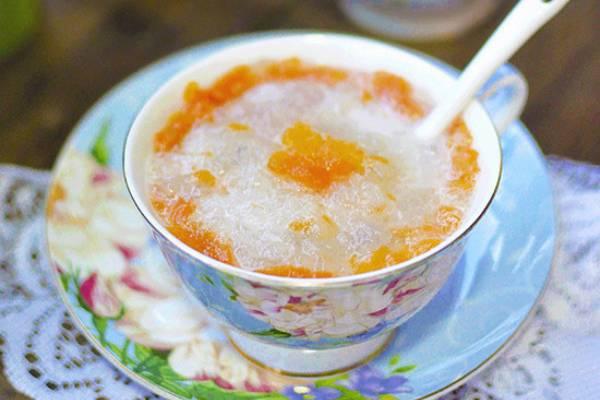 雪蛤炖木瓜椰汁的做法