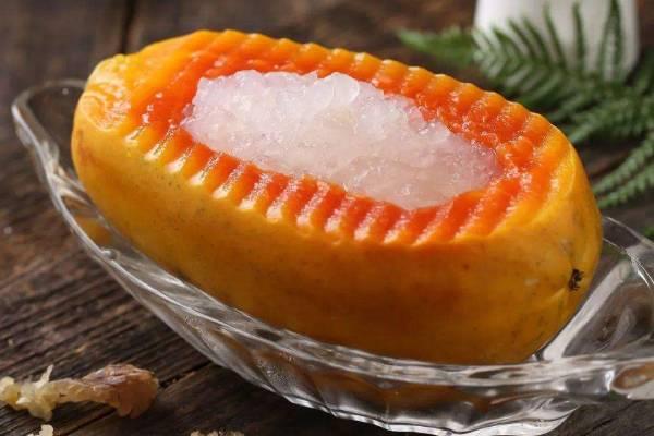 木瓜炖雪蛤能加蜂蜜吗