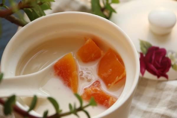 雪蛤油炖木瓜的做法
