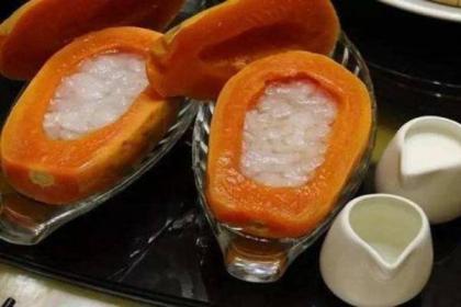 木瓜炖雪蛤的功效